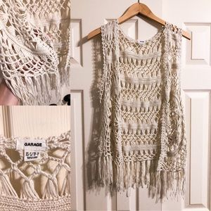 Cable Knit Vest Cardigan